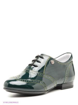 Туфли ELEGAMI. Цвет: темно-зеленый