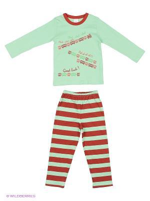 Пижама Модамини. Цвет: зеленый, бледно-розовый