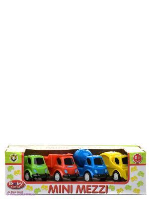Маленькие грузовики Globo. Цвет: желтый, зеленый, красный