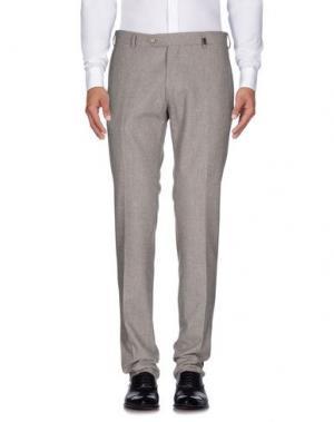Повседневные брюки GIO ZUBON. Цвет: светло-серый