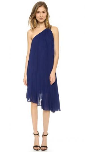 Платье Cassia на одно плечо Club Monaco. Цвет: фиолетовая луна