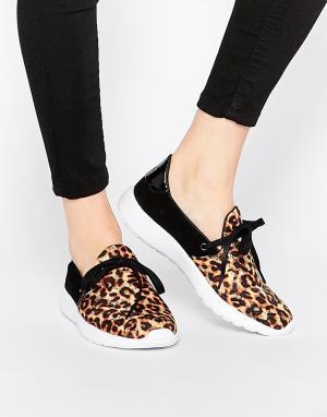 YRU Кроссовки Beam Leopard. Цвет: мульти