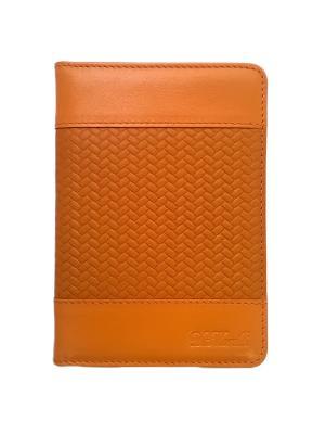 Бумажник водителя, ЭЛИС оранж Domenico Morelli. Цвет: оранжевый