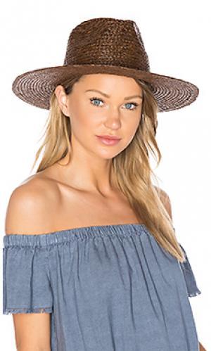 Шляпа федора simpson Brixton. Цвет: коричневый