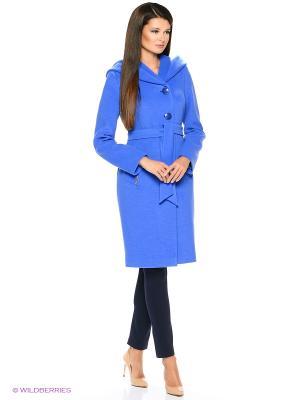 Пальто Electrastyle. Цвет: лазурный
