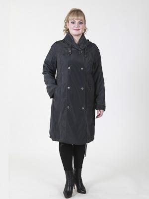 Пальто Эмбер VIKO. Цвет: темно-синий