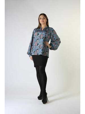Блуза-туника Glam Goddess. Цвет: синий, черный