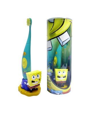 Электрическая зубная щетка Spongebob DR.FRESH. Цвет: голубой, желтый