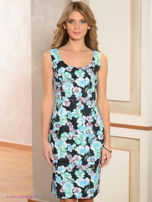 Платье ЭНСО. Цвет: бирюзовый, голубой, сиреневый, белый, темно-синий, темно-зеленый