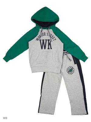 Костюм спортивный WonderKids. Цвет: зеленый