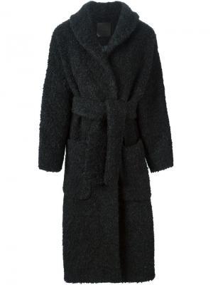 Пальто D.Efect. Цвет: чёрный