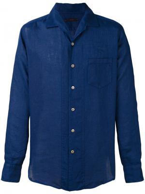 Рубашка в полоску The Gigi. Цвет: синий