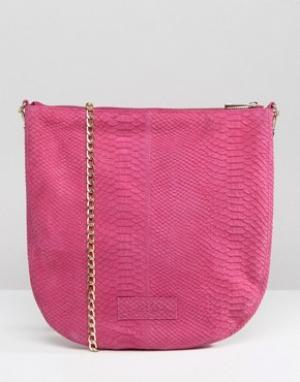 Urbancode Кожаная сумка через плечо. Цвет: розовый