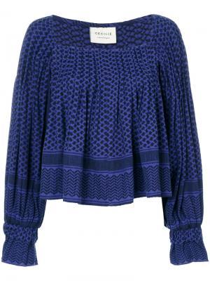 Расклешенная блузка Cecilie Copenhagen. Цвет: синий