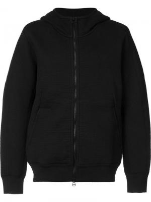 Zipped hoodie Wings+Horns. Цвет: чёрный