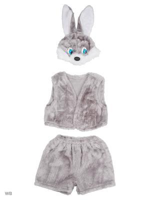 Карнавальный костюм Заяц серый Батик. Цвет: серый