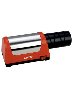 Электрическая точилка для ножей Vitesse. Цвет: темно-красный