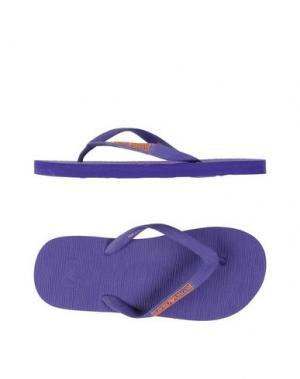 Вьетнамки EMPORIO ARMANI. Цвет: фиолетовый