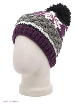 Шапка Maxval. Цвет: фиолетовый, белый, темно-серый
