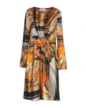 Платье до колена ANNA RACHELE. Цвет: бежевый