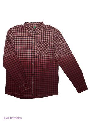 Рубашка United Colors of Benetton. Цвет: бордовый