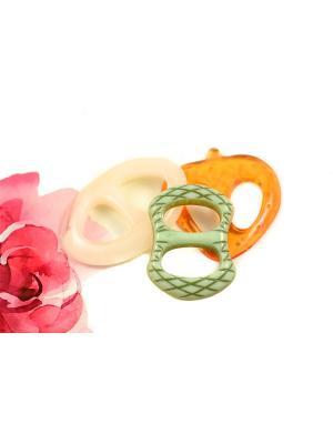 Пряжка Волшебная пуговица для шейного платка madam Пряжкина. Цвет: серо-зеленый, кремовый, оранжевый