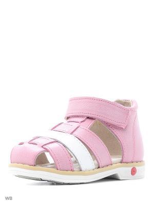 Туфли открытые Зебра. Цвет: розовый