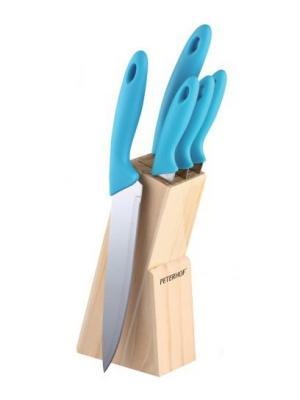 Набор ножей нерж. сталь, 6 предметов Peterhof. Цвет: голубой