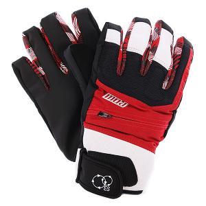 Перчатки сноубордические женские  Sniper Glove Red Pow. Цвет: белый,черный,красный