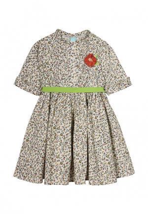 Платье AnyKids. Цвет: бежевый