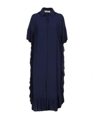 Платье до колена NINEMINUTES. Цвет: темно-синий