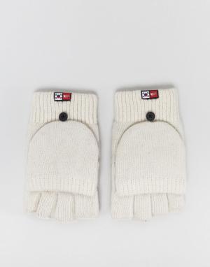 The North Face Серые варежки-перчатки. Цвет: серый