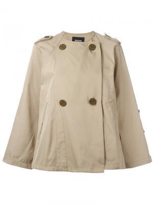 Двубортная куртка Zucca. Цвет: телесный