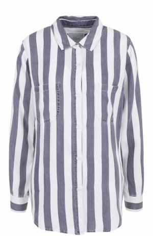 Блуза в полоску с накладными карманами Rails. Цвет: разноцветный