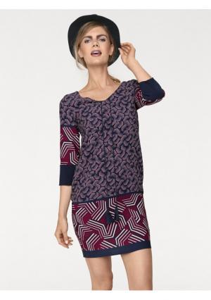 Платье Rick Cardona. Цвет: бордовый/темно-синий