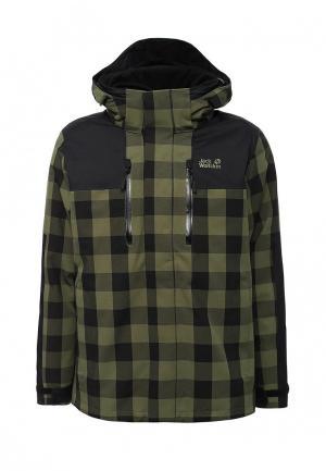 Куртка утепленная Jack Wolfskin. Цвет: зеленый