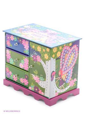 Мозаика-шкатулка Лесная фея The ORB factory. Цвет: зеленый, розовый
