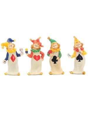 Фигурка декоративная Клоуны Elan Gallery. Цвет: бежевый, красный, желтый, зеленый, фиолетовый