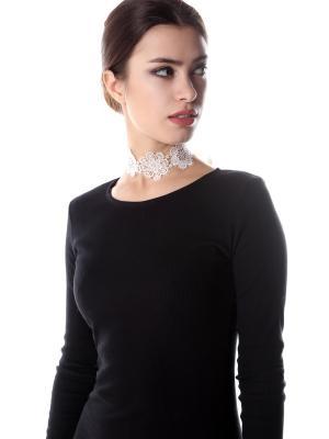 Ожерелье чокер кружевное Белые цветы SEANNA. Цвет: кремовый