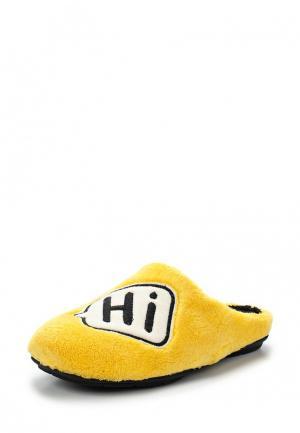 Тапочки Costa. Цвет: желтый