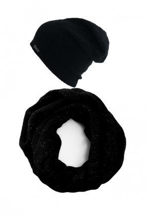 Комплект снуд и шапка StaiX. Цвет: черный