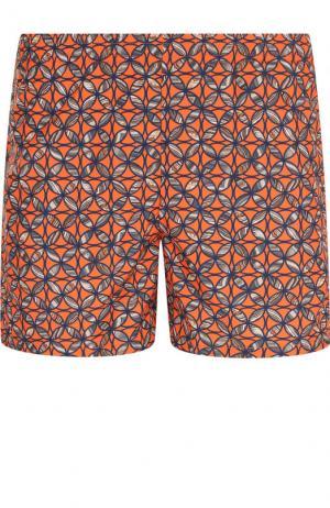 Плавки-шорты с принтом La Perla. Цвет: оранжевый
