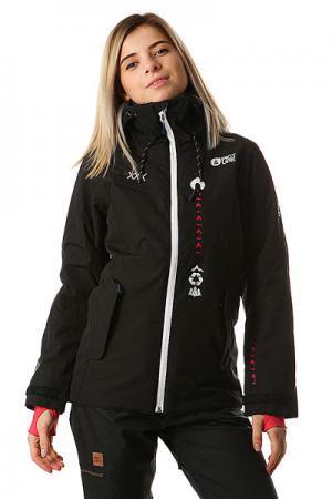 Куртка утепленная женская  Kelowna Black Picture Organic. Цвет: черный