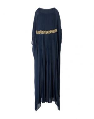 Длинное платье MAURIZIO PECORARO. Цвет: темно-синий