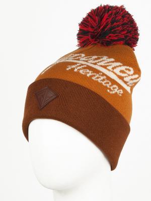 Шапка ЗАПОРОЖЕЦ Zap Classic Logo Beanie. Цвет: коричневый, темно-коричневый