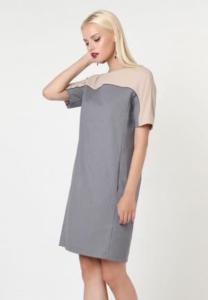 Платье Lova. Цвет: серый