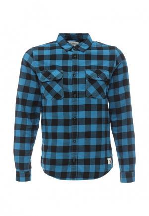 Рубашка Billabong. Цвет: голубой