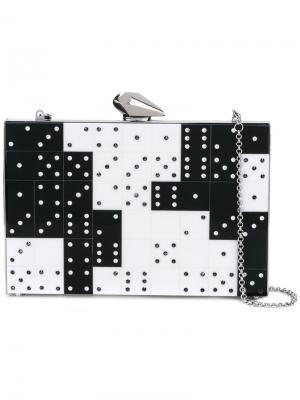 Клатч domino с кристаллами Kotur. Цвет: чёрный