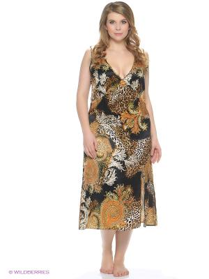 Ночная сорочка Del Fiore. Цвет: оранжевый, коричневый