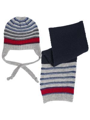 Комплект: шапочка, шарф CHICCO. Цвет: серый
